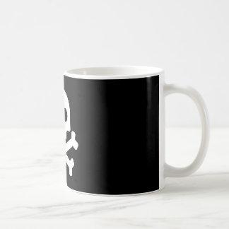 Witte schedelmig koffiemok
