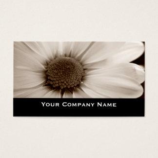 Witte sepia van de Chrysant bloemVisitekaartjes Visitekaartjes