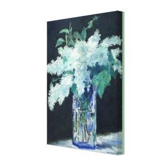 Witte Sering door Edouard Manet Canvas Afdruk