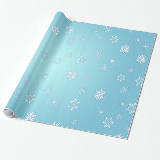 Witte Sneeuwvlokken Inpakpapier
