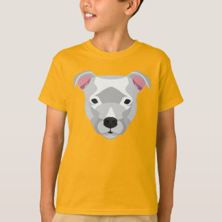 Witte Staffordshire Bull terrier T Shirt