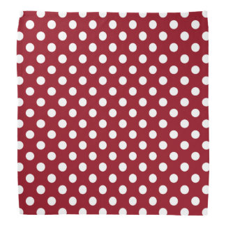 Witte Stippen op Karmozijnrood Rood Bandana