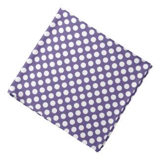 Witte Stippen op Paarse Ultraviolet Bandana