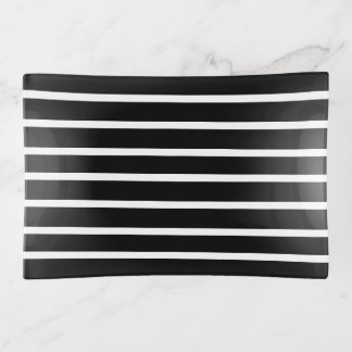 witte strepen op zwarte modern sierschaaltjes