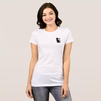 Witte T-shirt van de Kat van de pret de Leuke