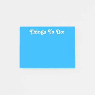 Witte Tekst | van de Douane Helder Blauw Post-it® Notes