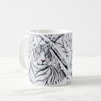 Witte Tijger die binnen mengt Koffiemok