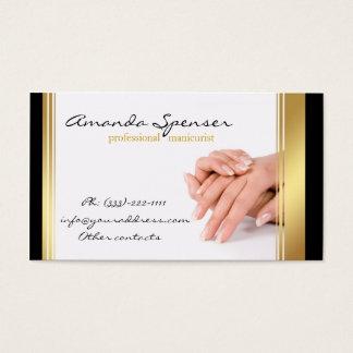 Witte Visitekaartje van de Grens van de manicure