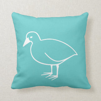 witte vogel op blauwgroen blauw hoofdkussen sierkussen