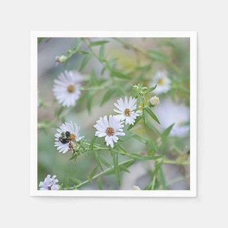 Witte wildflowers papieren servet