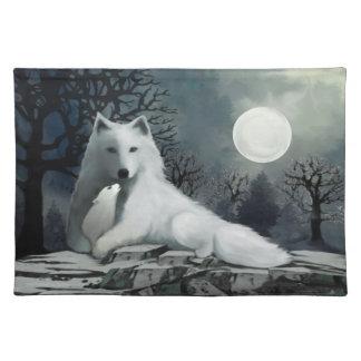 Witte Wolf met Jong Placemat