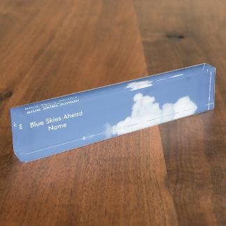 Witte Wolken in Blauwe Hemel Naambord
