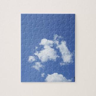 Witte Wolken in Blauwe Hemel Puzzel
