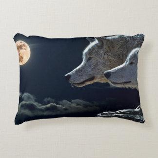 Witte Wolven in de Volle maan Accent Kussen