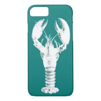 Witte Zeekreeft op Turkoois/Wintertaling iPhone 8/7 Hoesje