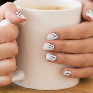 Witte zilveren grijze Minx van het streepOntwerp Minx Nail Folie