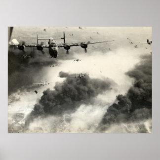 WO.II B-24s over de Olievelden van Ploeshti Poster