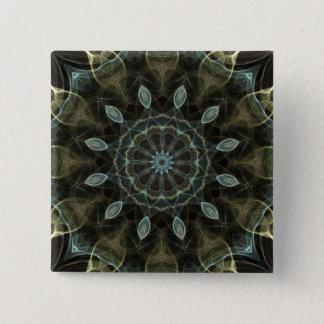 Wolachtige Groene en Blauwe koninklijke Vierkante Button 5,1 Cm