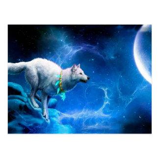 Wolf en Maan Briefkaart