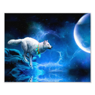 Wolf en Maan Fotoafdrukken