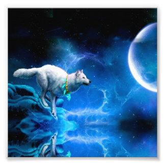 Wolf en Maan Fotoprints