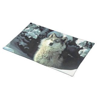 Wolf in de Sneeuw Placemat