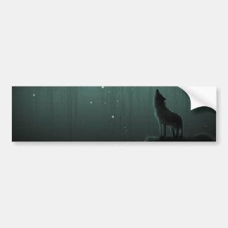 wolf op een heuvel bumpersticker