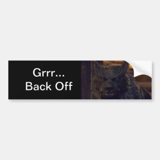 """Wolf - """"trek me """" terug bumpersticker"""