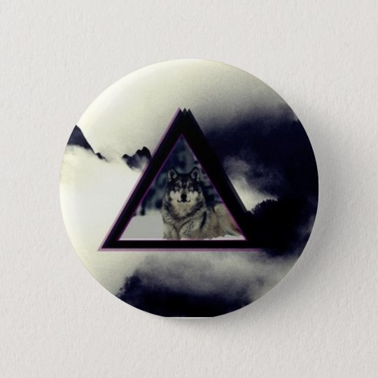 wolf triangle ronde button 5,7 cm