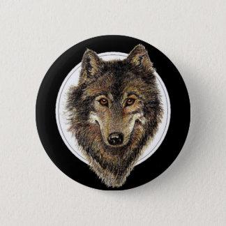 Wolf, Wolven, het Dier van de Waterverf, Natuur Ronde Button 5,7 Cm