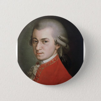 Wolfgang Amadeus Mozart Ronde Button 5,7 Cm