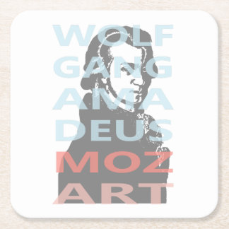 Wolfgang Amadeus Mozart Vierkante Onderzetter