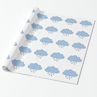 """Wolk """"zo net zoals regen """" inpakpapier"""