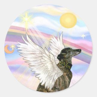 Wolken - de Getijgerde engel van de Windhond Ronde Sticker