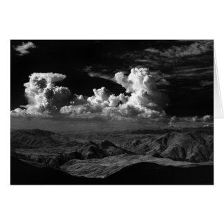 Wolken over de anza-Borrego Woestijn, ca. 1966 Wenskaart