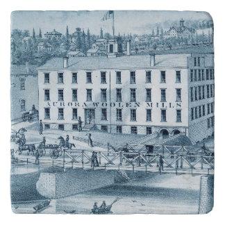 Wollen Molens 1871 van Illinois van de dageraad Trivet