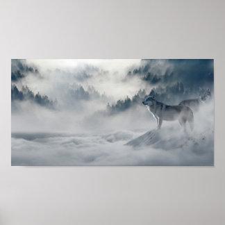 Wolven in de Druk van het Poster van de Winter