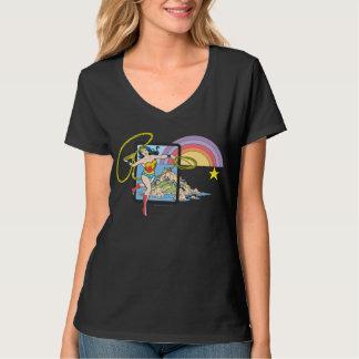 Wonder de Regenboog van de Vrouw T Shirt