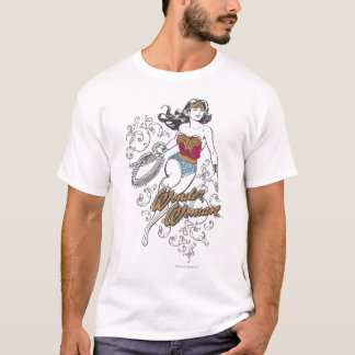 Wonder de Vrouw bloeit T Shirt