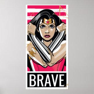 Wonder de Vrouw verdedigt - Sjabloon Poster