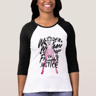 Wonder het Art. van de Typografie van de Borstel T Shirt