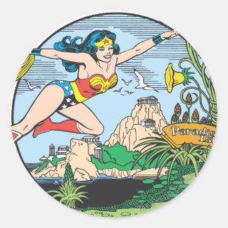 Wonder het Eiland van het Paradijs van de Vrouw Ronde Sticker