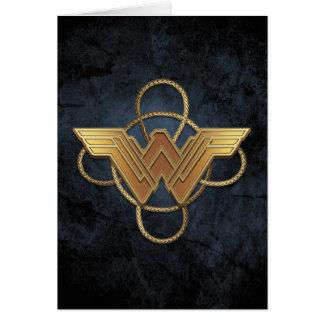 Wonder het Gouden Symbool van de Vrouw over Lasso Kaart