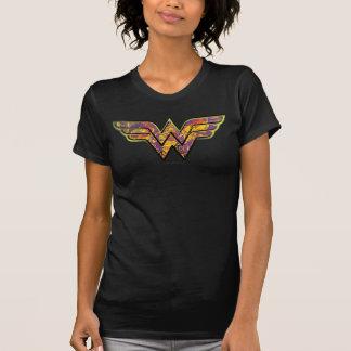 Wonder het Kleurrijke Logo van de Vrouw T Shirt