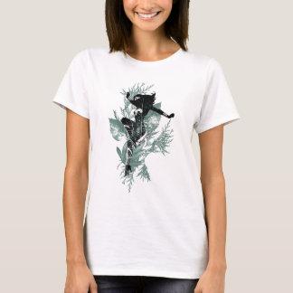 Wonder het Landende Grafische Gebladerte van de T Shirt