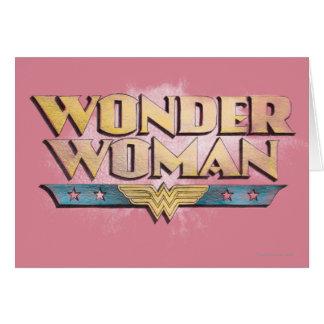 Wonder het Logo van het Potlood van de Vrouw Kaart