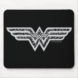 Wonder het Logo van Paisley van de Vrouw Muismatten