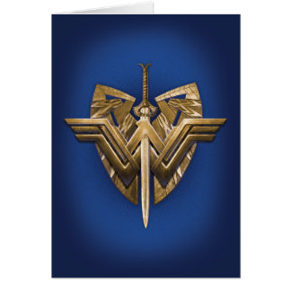 Wonder het Symbool van de Vrouw met Zwaard van Briefkaarten 0