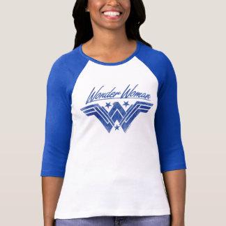Wonder het Vrouw Gestapelde Symbool van Sterren T Shirt