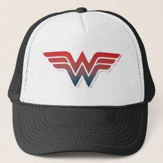 Wonder Logo van de Gradiënt van de Vrouw het Rode Trucker Pet